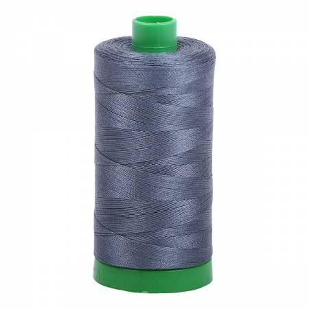 Mako Cotton Embroidery Thread 40wt 1094yds Medium Grey