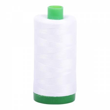Aurifil Mako Cotton Thread 40wt 1094yds White