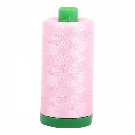 Aurifil Mako Cotton Thread 40wt 1094yds - Baby Pink 2423