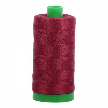 Aurifil Mako Cotton Thread 40wt 1094yds - Dark Carmine Red 2460