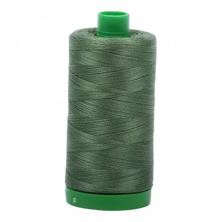 Mako Cotton Embroidery Thread 40wt 1094yds Very Dark Grass Green