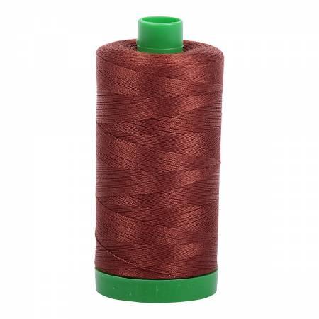 Aurifil Mako Cotton Thread 40wt 1094yds - Copper Brown 4012