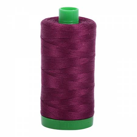 Mako Cotton Embroidery Thread 40wt 1094yds Plum