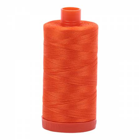 Mako Cotton Thread Solid 50wt 1422yds Neon Orange #1104