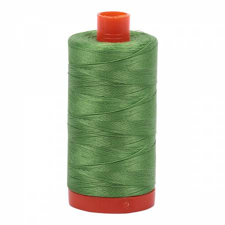 Mako Cotton Thread Solid 50wt 1422yds Grass Green