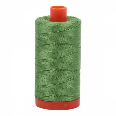 Aurifil Mako Cotton Embroidery Thread 50 wt. 1422 yds 1114 Grass Green