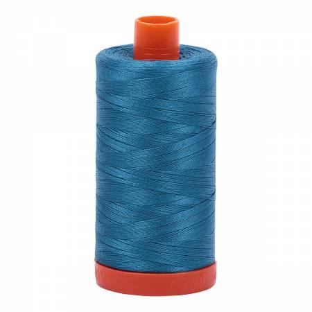 Aurifil 50/2 Cotton Solid 1422yds - #1125 Medium Teal