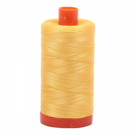 50wt Aurifil Pale Yellow 100% Cotton Thread 1422 yards -1135