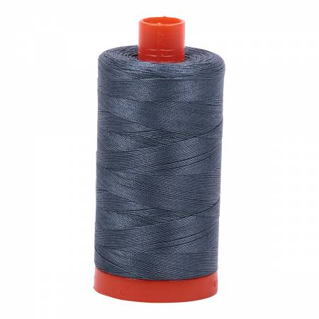 Mako Cotton Thread Solid 50wt 1422yds Med. Gray 1158