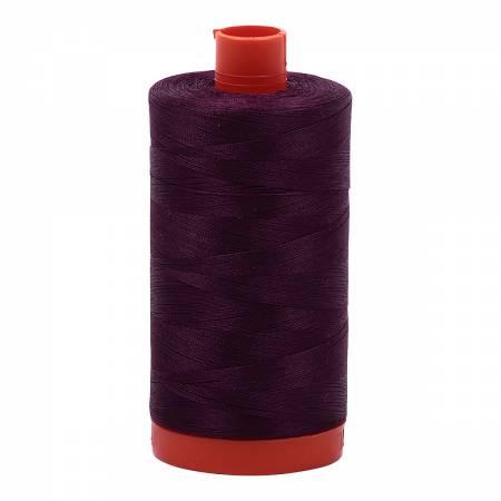 Aurifil 1240 - Mako Cotton Thread Solid 50wt 1422yds Very Dark Eggplant