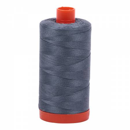 Mako Cotton Thread Solid 50wt 1422yds Dark Grey