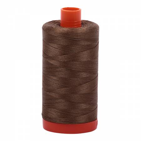 Aurifil Mako Cotton Thread Solid 50wt 1422yds Dark Sandstone