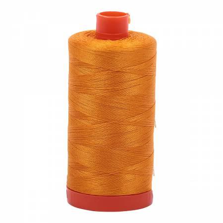 Aurifil 2145 - Mako Cotton Thread Solid 50wt 1422yds Yellow Orange