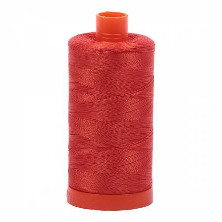 Mako Cotton Thread 50wt 1422yds Red Orange #2245
