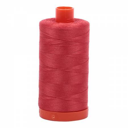 Mako Cotton Thread Solid 50wt 1422yds Dark Red Orange