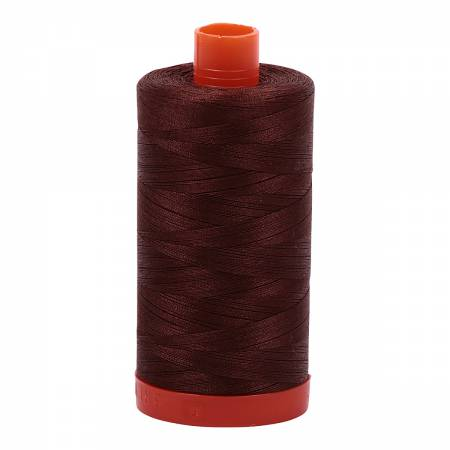 Aurifil Mako Cotton Thread 50wt 1422yds - Chocolate 2360
