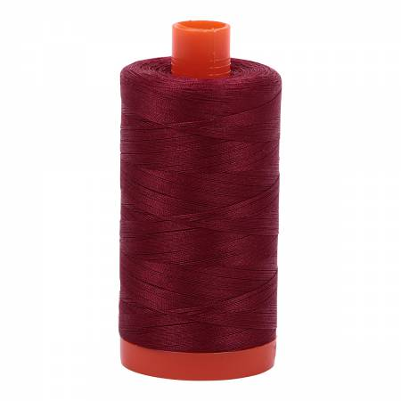 50 wt Aurifil Dark Carmine Red 100% Cotton Thread 218 yards 2460