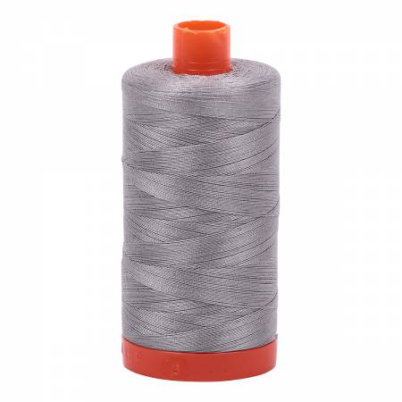 Mako Cotton Thread Solid 50wt 1422yds Stainless Steel