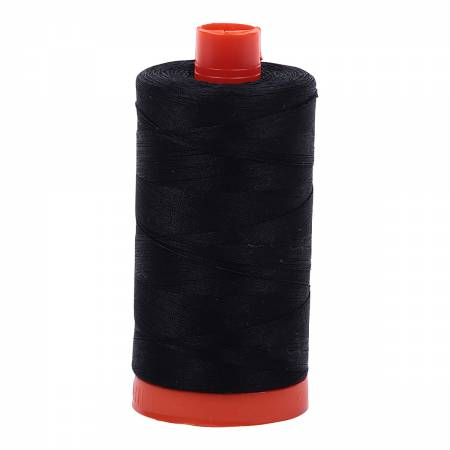 Aurifil Mako Cotton 50wt Thread - Black (#2692)
