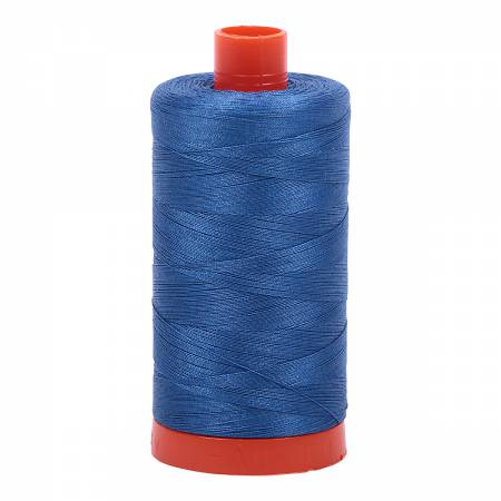 Delft Blue 2730 Mako Cotton Thread Solid 50wt 1422yds Aurifil