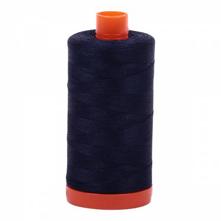 Aurifil Mako Cotton 50wt Thread - Very dark Navy (#2785)