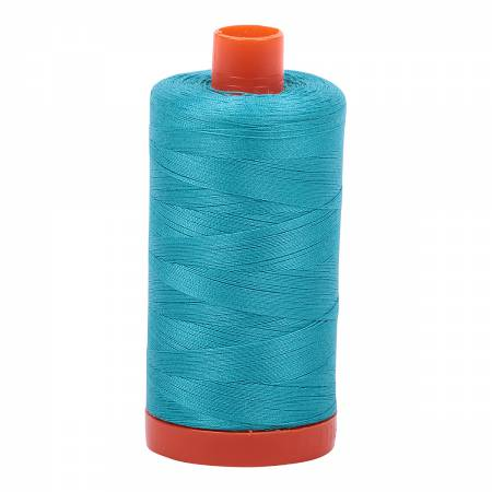 Aurifil 2810 - Mako Cotton Thread Solid 50wt 1422yds Turquoise