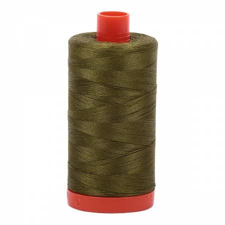 Mako Cotton Thread Solid 50wt 1422yds Very Dark Olive