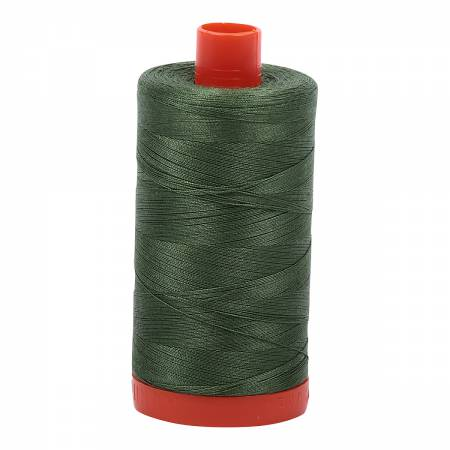 Aurifil Cotton Thread 50wt Very Dark Grass Green 2890