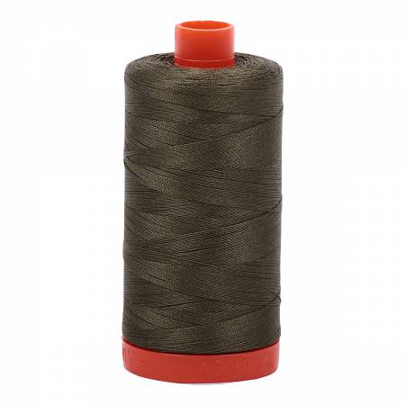 50 wt Aurifil Army Green 100% Cotton Thread 1422 yards -2905