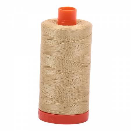 Mako Cotton Thread Solid 50wt 1422yds Very Light Brass