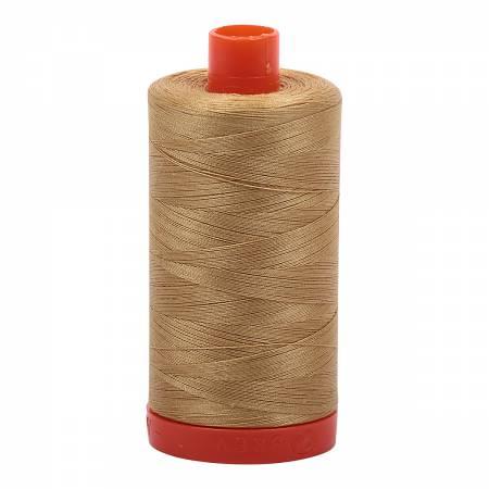 Aurifil 2920 Light Brass Mako Cotton Thread Solid 50wt 1422yds