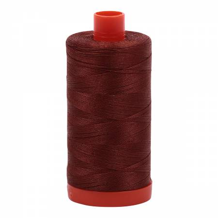 Mako Cotton Thread Solid 4012 Copper Brown 50wt 1422yds