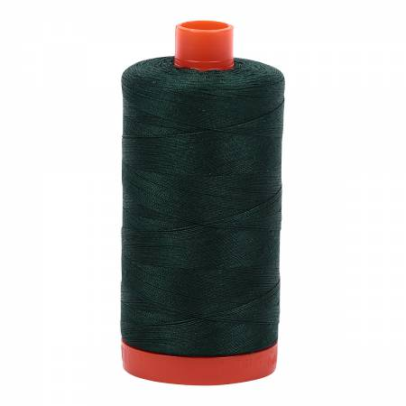 Aurifil Mako Cotton Thread 50wt 1422yds - Forest Green 4026