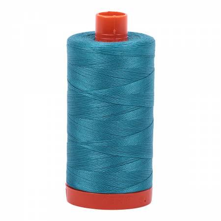 Mako Cotton Thread Solid 50wt 1422yds Dark Turquoise