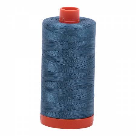 Mako Cotton Thread Solid 50wt 1422yds Smoke Blue