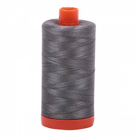 Aurifil Mako Cotton Thread Solid 50wt 1422yds Grey Smoke