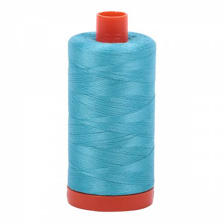 Bright Turquoise 5005 Mako Cotton Thread Solid 50wt 1422yds Aurifil