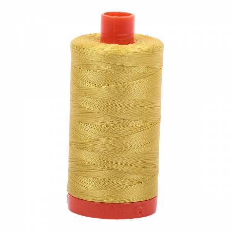 5015 Mako Cotton Thread Solid 50wt 1422yds Gold Yellow