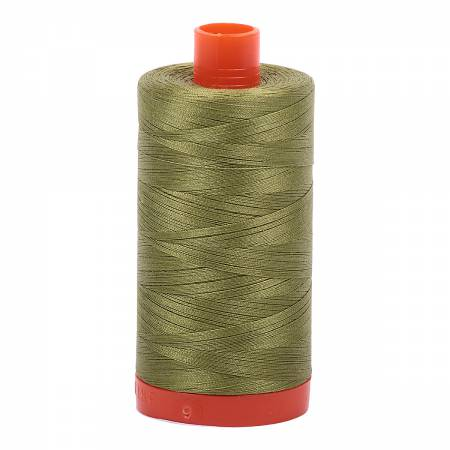 Mako Cotton Thread Solid 50wt 1422yds Olive Green