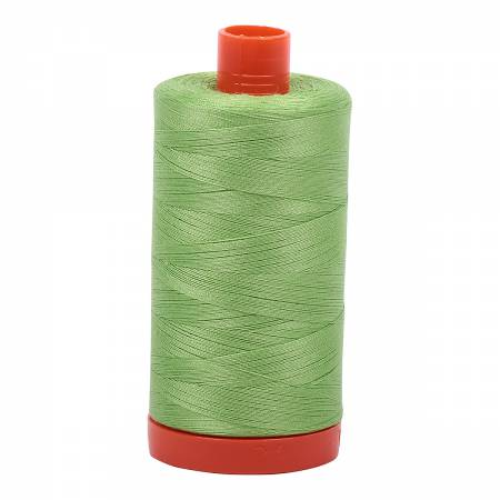 Aurifil 5017 - Mako Cotton Thread Solid 50wt 1422yds Shining Green