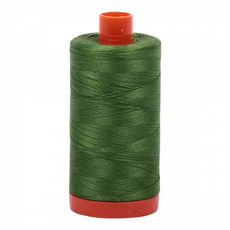 Dark Grass Green 5018 Aurifil Mako Cotton Thread Solid 50wt 1422yds