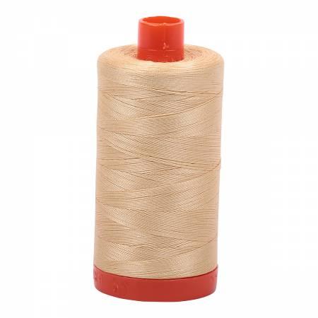 Aurifil Mako 6001 Cotton Thread Solid 50wt 1422yds Light Caramel