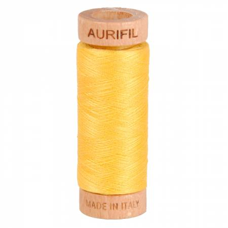 Aurifil Mako Cotton Thread 80wt 300yds - Pale Yellow 1135