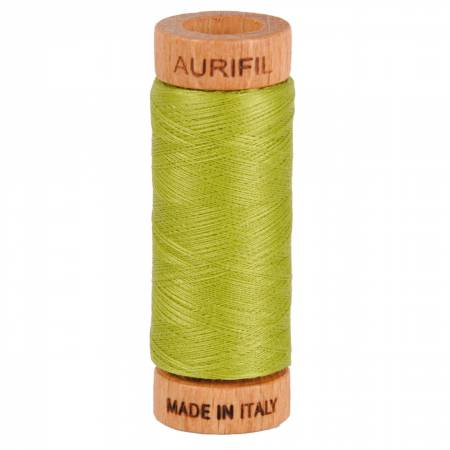 Mako Cotton Thread Solid 80wt 300yds Light Leaf Green