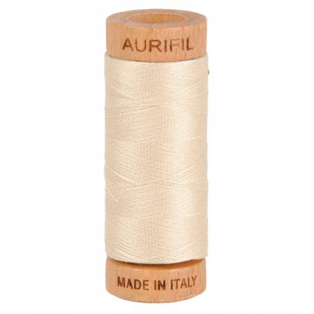 Aurifil Mako Cotton Thread 80wt 300yds - Light Beige 2310