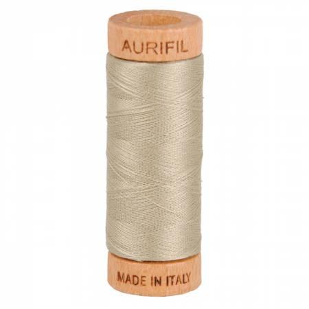 Aurifil Mako Cotton Thread 80wt 300yds - Stone 2324