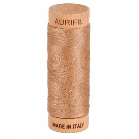Mako Cotton Thread Solid 80wt 300yds Café au Lait