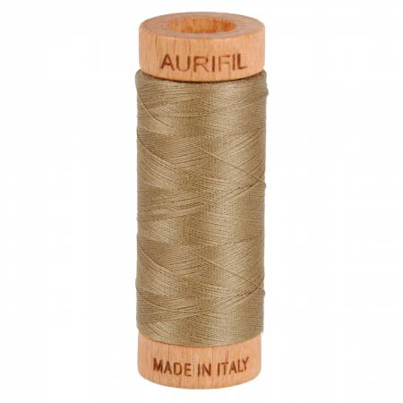 Aurifil Mako Cotton Thread 80wt 300yds - Sandstone 2370
