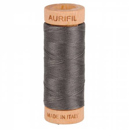 Mako Cotton Thread Solid 80wt 300yds Pewter 2630