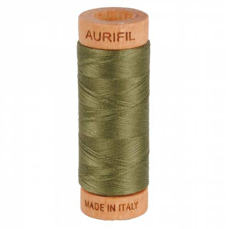 Mako Cotton Thread Solid 80wt 300yds Army Green